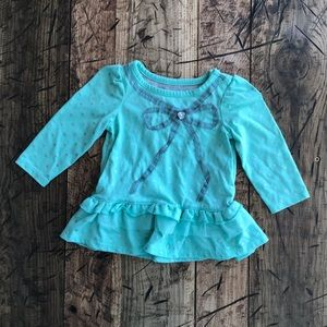 (4 for $5) Mint Green 6-9 Months Long Sleeve Top